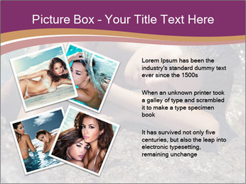 Carefree beautiful brunette PowerPoint Template - Slide 23