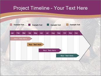 Carefree beautiful brunette PowerPoint Template - Slide 25
