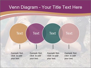 Carefree beautiful brunette PowerPoint Template - Slide 32