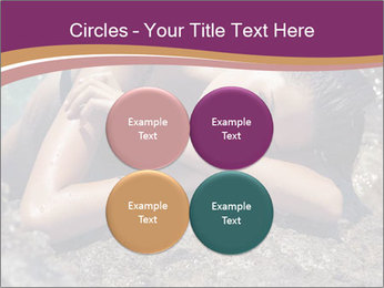 Carefree beautiful brunette PowerPoint Template - Slide 38