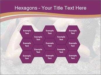Carefree beautiful brunette PowerPoint Template - Slide 44