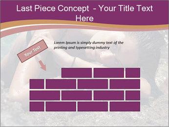 Carefree beautiful brunette PowerPoint Template - Slide 46