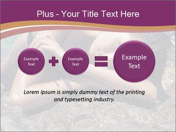 Carefree beautiful brunette PowerPoint Template - Slide 75
