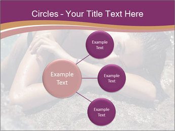 Carefree beautiful brunette PowerPoint Template - Slide 79