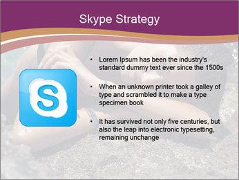 Carefree beautiful brunette PowerPoint Template - Slide 8
