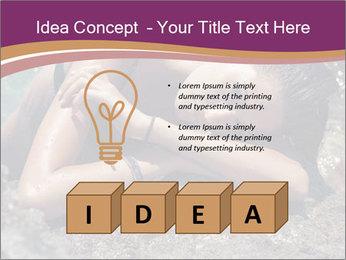 Carefree beautiful brunette PowerPoint Template - Slide 80