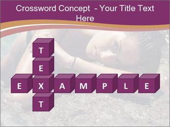 Carefree beautiful brunette PowerPoint Template - Slide 82