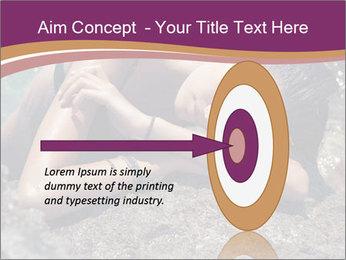 Carefree beautiful brunette PowerPoint Template - Slide 83