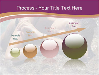 Carefree beautiful brunette PowerPoint Template - Slide 87