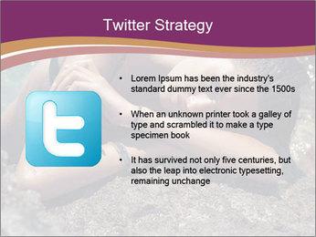 Carefree beautiful brunette PowerPoint Template - Slide 9