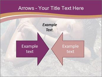 Carefree beautiful brunette PowerPoint Template - Slide 90