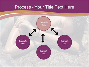 Carefree beautiful brunette PowerPoint Template - Slide 91