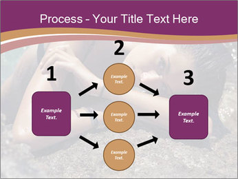 Carefree beautiful brunette PowerPoint Template - Slide 92