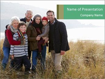 Multi Generation Family PowerPoint Template - Slide 1
