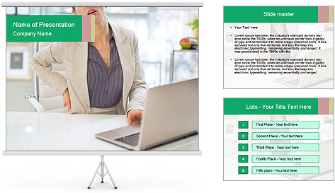 Business woman PowerPoint Template
