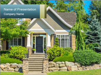 Fragment of luxury house PowerPoint Template