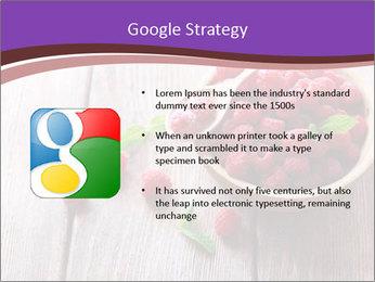Ripe sweet raspberries PowerPoint Template - Slide 10