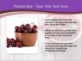Ripe sweet raspberries PowerPoint Template - Slide 13