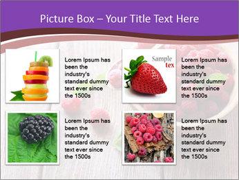Ripe sweet raspberries PowerPoint Template - Slide 14