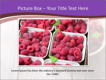 Ripe sweet raspberries PowerPoint Template - Slide 15