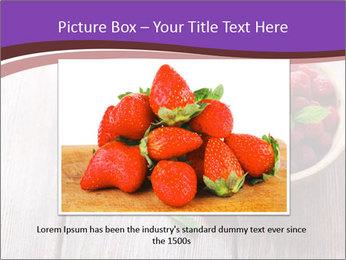 Ripe sweet raspberries PowerPoint Template - Slide 16