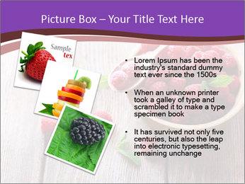 Ripe sweet raspberries PowerPoint Template - Slide 17