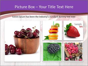 Ripe sweet raspberries PowerPoint Template - Slide 19