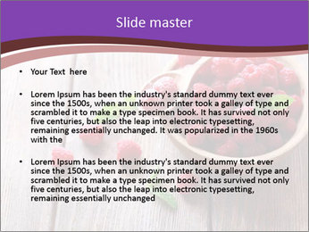 Ripe sweet raspberries PowerPoint Template - Slide 2