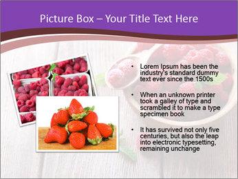 Ripe sweet raspberries PowerPoint Template - Slide 20