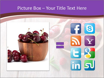 Ripe sweet raspberries PowerPoint Template - Slide 21