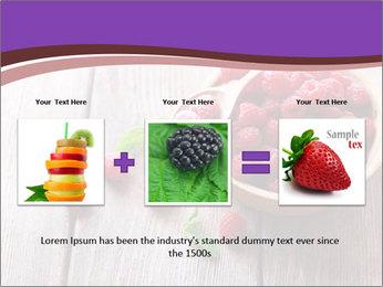 Ripe sweet raspberries PowerPoint Template - Slide 22