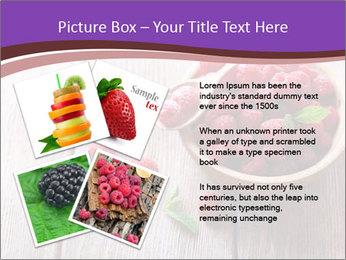 Ripe sweet raspberries PowerPoint Template - Slide 23