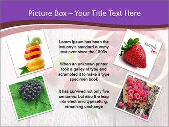 Ripe sweet raspberries PowerPoint Template - Slide 24