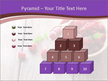 Ripe sweet raspberries PowerPoint Template - Slide 31