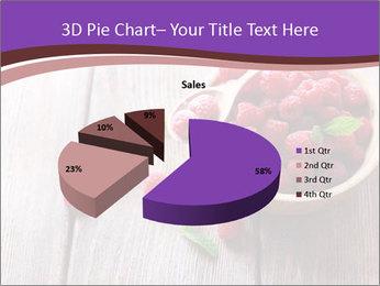 Ripe sweet raspberries PowerPoint Template - Slide 35