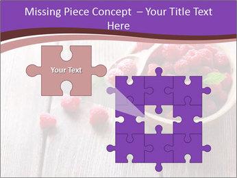 Ripe sweet raspberries PowerPoint Template - Slide 45
