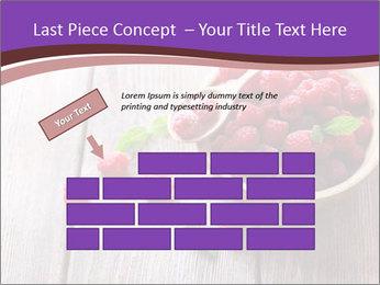 Ripe sweet raspberries PowerPoint Template - Slide 46
