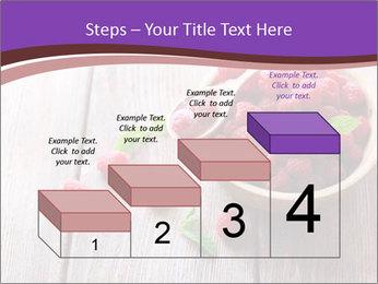 Ripe sweet raspberries PowerPoint Template - Slide 64