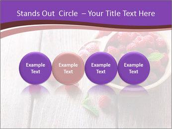 Ripe sweet raspberries PowerPoint Template - Slide 76