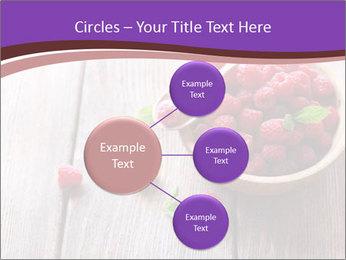 Ripe sweet raspberries PowerPoint Template - Slide 79
