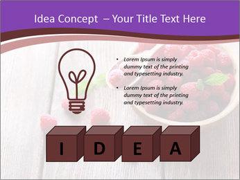 Ripe sweet raspberries PowerPoint Template - Slide 80