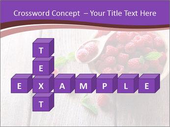 Ripe sweet raspberries PowerPoint Template - Slide 82