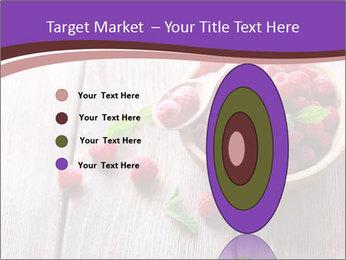 Ripe sweet raspberries PowerPoint Template - Slide 84