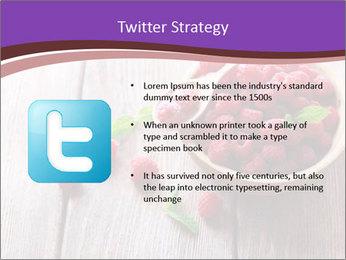 Ripe sweet raspberries PowerPoint Template - Slide 9