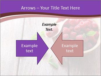 Ripe sweet raspberries PowerPoint Template - Slide 90