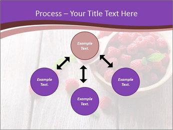 Ripe sweet raspberries PowerPoint Template - Slide 91