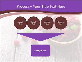 Ripe sweet raspberries PowerPoint Template - Slide 93