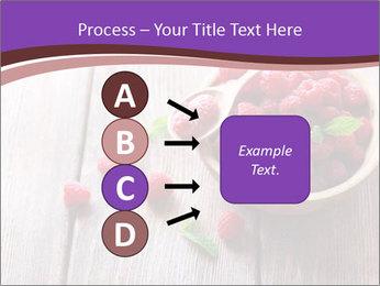 Ripe sweet raspberries PowerPoint Template - Slide 94