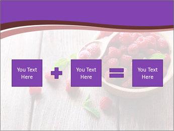 Ripe sweet raspberries PowerPoint Template - Slide 95