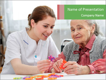 Elder care nurse PowerPoint Template